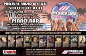 Pressure Radio Invades South Beach Piano Bar WMC 2011