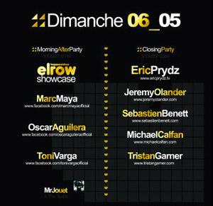 Inox Festival Toulouse 2012 Lineup DJ - Dimanche