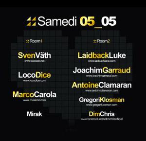 Inox Festival Toulouse 2012 Lineup DJ - Samedi