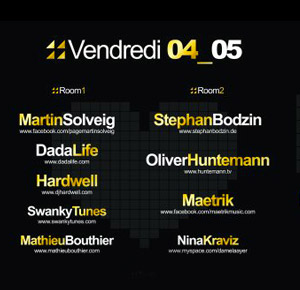 Inox Festival Toulouse 2012 Lineup DJ - Vendredi