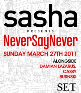 Never Say Never, Set Miami WMC 2011 (27-03-2011)