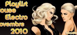 Playlist House Electro Novembre 2010