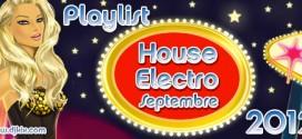 Playlist House Electro Septembre 2012